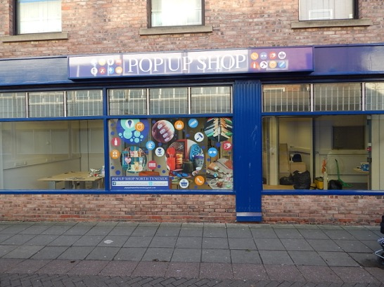 Getting Ready To Open. Pop-up Shop, Russell Street, North Shields