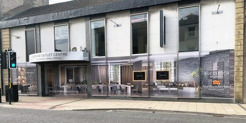 Graphic Treatment For A Long Term Eyesore, Hexham