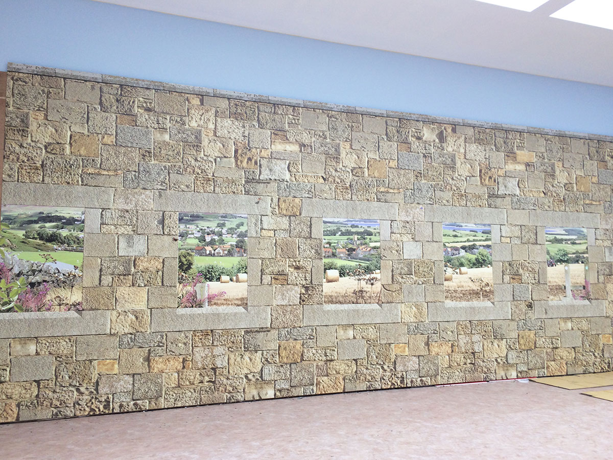 3D Effect Feature Wall